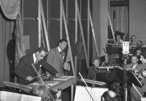 Frank Sinatra at a recording sessionc. 1944 - Image 0337_0053