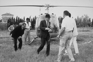 Frank Sinatra arriving in Rome with Brad Dexter and Dick Bakalyan / 1964 © 1978 David Sutton - Image 0337_0559