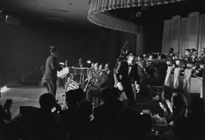 Frank Sinatra performing at The Sands Hotel in Las Vegas, Nevada (Nancy Jr. in audience)1964 © 1978 David Sutton - Image 0337_0560