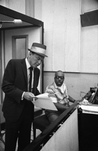 Frank Sinatra and Count Basie at a recording session1964 © 1978 David Sutton - Image 0337_0571