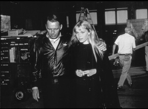 "Frank Sinatra meets Mia Farrow on theset of ""Von Ryan"