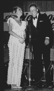 Frank Sinatra with daughter Nancy during a fundraiser in Palm Springs, CA. 1970 - Image 0337_0759