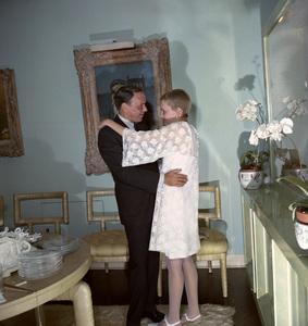 Frank Sinatra and Mia Farrow on their wedding day1966 © 1978 Ted Allan - Image 0337_0858