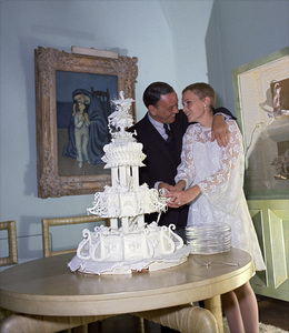 Frank Sinatra and Mia Farrow on their wedding day1966© 1978 Ted Allan - Image 0337_0859