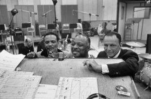 Frank Sinatra at a recording session with Quincy Jones and Count Basiecirca 1960© 1978 David Sutton - Image 0337_1125