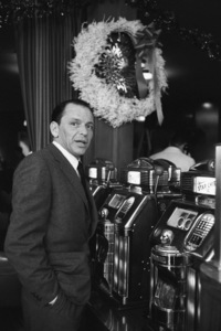 """Frank Sinatra at the Sands Hotel in Las Vegas during the making of """"Ocean"""