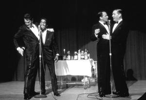 Frank Sinatra, Dean Martin, Sammy Davis Jr. and Milton Berle / c. 1964 © 1978 David Sutton - Image 0337_1259