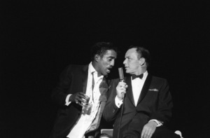 Sammy Davis Jr. and Frank Sinatra performing at the Sands Hotel in Las Vegas1960 © 1978 Bob Willoughby - Image 0337_1283