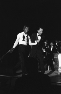 Sammy Davis Jr. and Frank Sinatra performing at the Sands Hotel in Las Vegas1960 © 1978 Bob Willoughby - Image 0337_1284