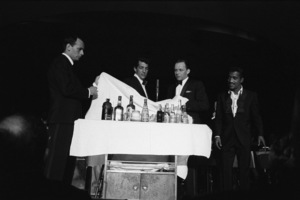 Joey Bishop, Dean Martin, Frank Sinatra and Sammy Davis Jr. performing at the Sands Hotel in Las Vegas1960 © 1978 Bob Willoughby - Image 0337_1285