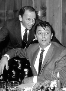 Frank Sinatra with Robert Mitchum at Sinatra