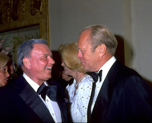 """Frank Sinatra with Gerald Ford at """"Man Of The Year"""" Awards. © 1979 Gunther - Image 0337_1361"""
