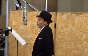 """Frank Sinatra at """"This Is Sinatra"""" Capitol recording session1957 © 1978 Sid Avery - Image 0337_1406"""