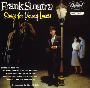 """Frank Sinatra on the cover of his 1954 Capitol Records album """"Songs for Young Lovers""""© 1978 Sid Avery - Image 0337_1410"""