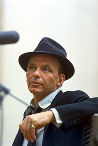 Frank Sinatra at a recording session at Capitol Records, c. 1954. © 1978 Sid Avery - Image 0337_1451