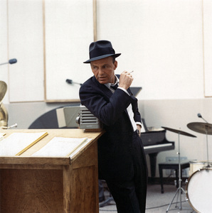 Frank Sinatra at a Capitol Records recording session in Los Angelescirca 1954© 1978 Sid Avery - Image 0337_1453
