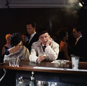 "Frank Sinatra at a Capitol Records album cover shoot for ""No One Cares"" (Photographer Ed Thrasher over Frank"