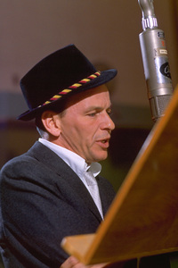 "Frank Sinatra during a 1959 recording session ""Look To Your Heart"" for Capitol Records. © 1978 Sid Avery - Image 0337_1475"