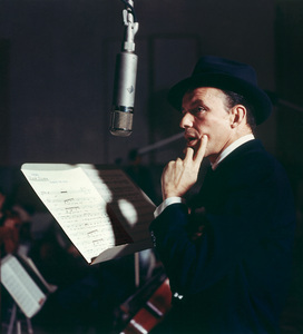 """Frank Sinatra during the Capitol recording session for the album """"Close To You""""1957 © 1978 Sid Avery - Image 0337_1493"""