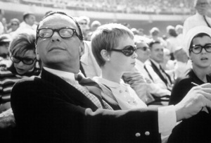 Frank and Mia Farrow at a baseball game, 1966.Photo by Gunther - Image 0337_1525