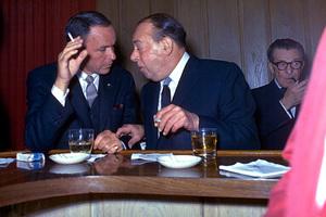 Frank Sinatra and Joe E. Lewis at Chasen
