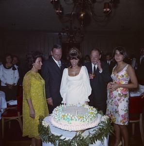 Frank Sinatra with Nancy Sr., Nancy Jr., Joe E. Lewis and Tina at Jr.