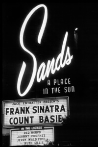 Frank Sinatra Marquee at the Sands Hotel, Las Vegas, NV, c. 1962. © 1978 David Sutton - Image 0337_1603