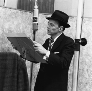 Frank Sinatra at a Capitol Records recording session in Los Angeles1957© 1978 Sid Avery - Image 0337_1753