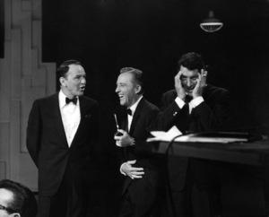 "Frank Sinatra, Dean Martin and Bing Crosby during a ""Bing Crosby Special""1963 © 1978 Gene Trindl - Image 0337_1786"
