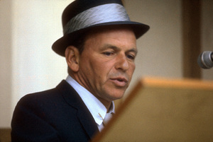 Frank Sinatra at a reprise recording session, 1964. © 1978 Ed Thrasher - Image 0337_1829