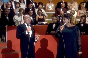 """Frank Sinatra with Ella Fitzgerald on NBC TV Special """"A Man and His Music"""" / 1967 © 1978 Ed Thrasher / MPTV - Image 0337_1837"""