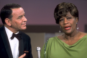 """Frank Sinatra with Ella Fitzgerald on NBC TV Special """"A Man and His Music"""" / 1967 © 1978 Ed Thrasher / MPTV - Image 0337_1843"""