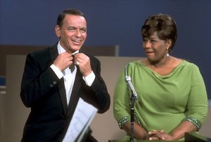 """Frank Sinatra with Ella Fitzgerald on NBC TV Special """"A Man and His Music"""" / 1967 © 1978 Ed Thrasher / MPTV - Image 0337_1846"""
