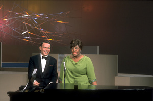 """Frank Sinatra with Ella Fitzgerald on NBC TV Special """"A Man and His Music"""" / 1967 © 1978 Ed Thrasher / MPTV - Image 0337_1847"""