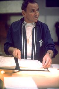 Frank Sinatra rehearsing in Los Angeles for his Caesar