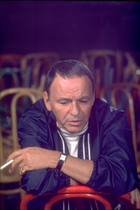 Frank Sinatra rehearsing in Los Angeles for his Caesar