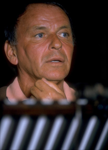 "Frank Sinatra at the Reprise recording session of ""Ol"