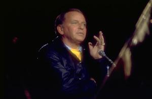 "Frank Sinatra rehearsing for the TV special ""Ol"
