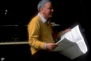 """Frank Sinatra at the Reprise recording session of """"Trilogy"""" / 1979 © 1979 Ed Thrasher - Image 0337_1964"""