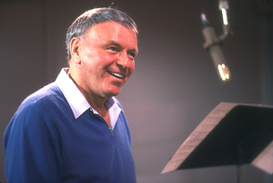 """Frank Sinatra at the Reprise recording session of """"L.A. Is My Lady"""" / A&R Studios, New York / 1984 © 1984 Ed Thrasher - Image 0337_1970"""