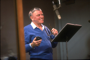 "Frank Sinatra at the Reprise recording session of ""L.A. Is My Lady"" / A&R Studios, New York / 1984 © 1984 Ed Thrasher - Image 0337_1974"