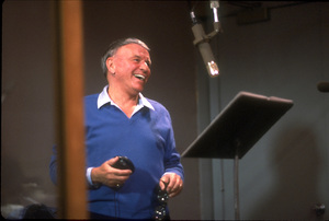 """Frank Sinatra at the Reprise recording session of """"L.A. Is My Lady"""" / A&R Studios, New York / 1984 © 1984 Ed Thrasher - Image 0337_1975"""