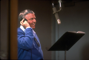 "Frank Sinatra at the Reprise recording session of ""L.A. Is My Lady"" / A&R Studios, New York / 1984 © 1984 Ed Thrasher - Image 0337_1976"