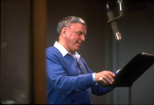 """Frank Sinatra at the Reprise recording session of """"L.A. Is My Lady"""" / A&R Studios, New York / 1984 © 1984 Ed Thrasher - Image 0337_1978"""