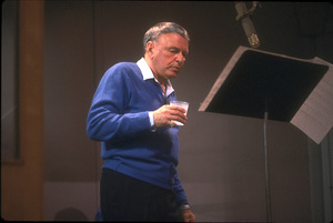 """Frank Sinatra at the Reprise recording session of """"L.A. Is My Lady"""" / A&R Studios, New York / 1984 © 1984 Ed Thrasher - Image 0337_1979"""