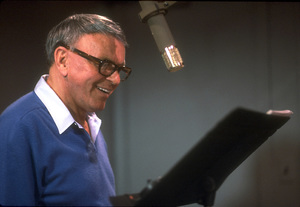 """Frank Sinatra at the Reprise recording session of """"L.A. Is My Lady"""" / A&R Studios, New York / 1984 © 1984 Ed Thrasher - Image 0337_1980"""