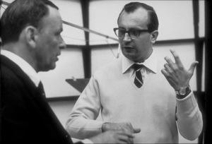 Frank Sinatra with Claus Ogermann at a Reprise recording session / 1967 © 1978 Ed Thrasher - Image 0337_2000