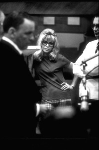 Frank Sinatra with Nancy Sinatra with Claus Ogermann at a Reprise recording session / 1967. © 1978 Ed Thrasher - Image 0337_2011