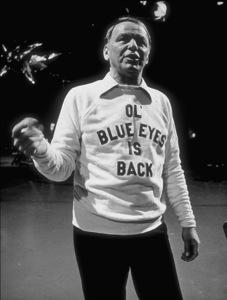 "Frank Sinatra rehearsing for the TV special, ""Ol"