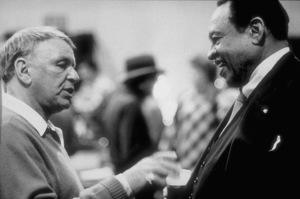 "Frank Sinatra with Lionel Hampton at the Reprise recording session of ""L.A. Is My Lady"" A&R Studios, New York / 1984 © 1984 Ed Thrasher - Image 0337_2027"